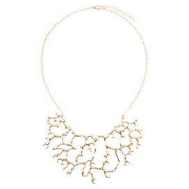 Seaside Coral Necklace in Gold