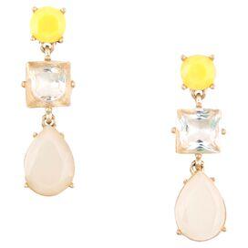 3-Stone Envy Chandelier Earrings