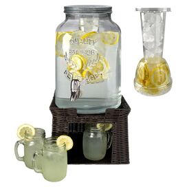 9-Piece Oasis 3-Gallon Beverage Dispenser Set