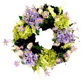 Faux Mixed Hydrangea Wreath