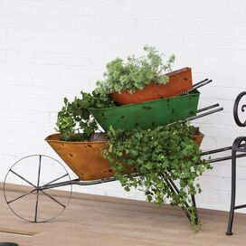 3-Piece Wheelbarrow Planter Set