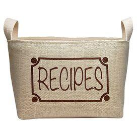 Recipes Storage Bin
