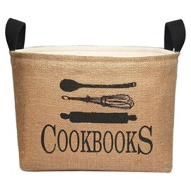 Cookbooks Storage Bin