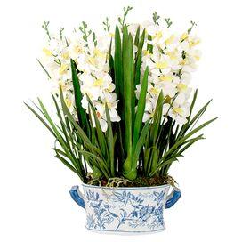 Faux Vanda Orchid
