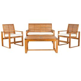 4-Piece Ozark Acacia Seating Group Set in Natural