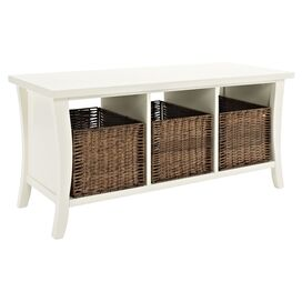 Walton Storage Bench in White