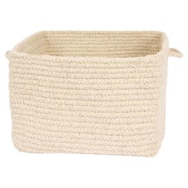Braided Wool Storage Basket in Natural
