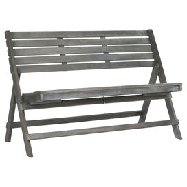 Luca Acacia Bench in Ash Grey