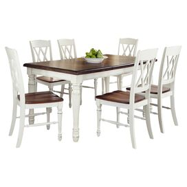7-Piece Monarch Dining Set in White