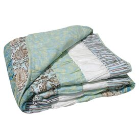 Paradise Cotton Ruched Throw Blanket