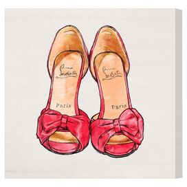 My Hot Pink Shoes Canvas Print, Oliver Gal