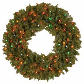 """Pre-Lit Indoor/Outdoor 36"""" Faux Norwood Fir Wreath"""