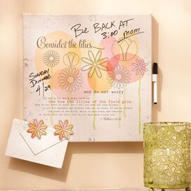Consider the Lilies Memo Board
