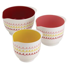 Cake Boss 3-Piece Melamine Mixing Bowl Set