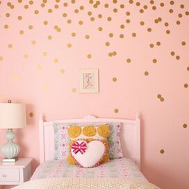 Dot Wall Decal in Gold (Set of 72)