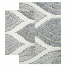2-Piece Davenport Bath Rug Set in Gray