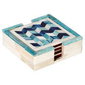5-Piece Penelope Bone Coaster Set