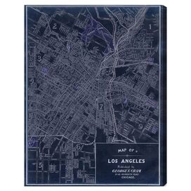Los Angeles 1899 Canvas Print, Oliver Gal