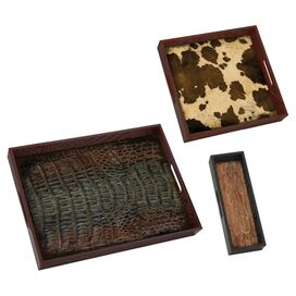 3-Piece Buck Tray Set
