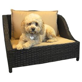 Emerson Outdoor Wicker Pet Bed