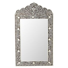 Kira Bone Wall Mirror in Brown