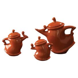 3-Piece Ella Teapot Set in Orange
