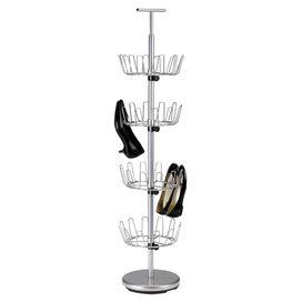 Davidson 24-Pair Shoe  Rack in Silver