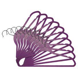 Marion Velvet Hanger in Purple (Set of 216)