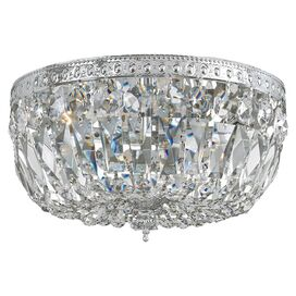Tessa Crystal Flush Mount in Chrome