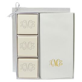 15-Piece Personalized Gold Soap & Towel Set