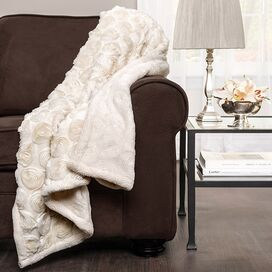 Edie Embroidered Throw