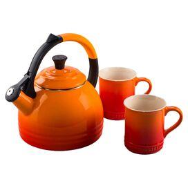 Le Creuset Peruh Kettle & Mug Set, Flame