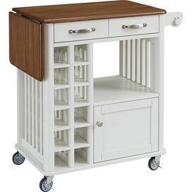 Danville Kitchen Cart in White