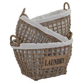3-Piece Laundry Storage Basket Set