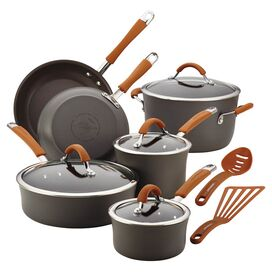 Rachael Ray 12-Piece Cucina Cookware Set in Orange