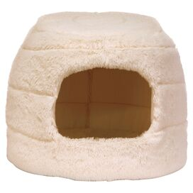 Honeycomb Pet Bed in Ivory
