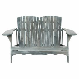 Mallory Acacia Garden Bench in Ash Grey