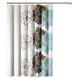 Lola Shower Curtain in Brown