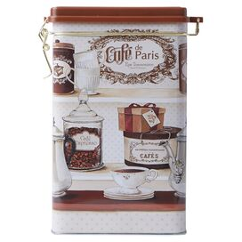 Paris Cafe Tin Canister