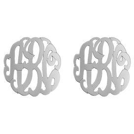Personalized Mirabeth Earrings in Silver by Bridget Kelly