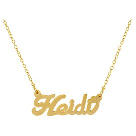 Personalized Nameplate Necklace in Gold by Bridget Kelly