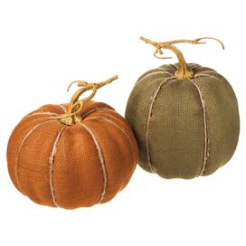 2-Piece Nathaniel Pumpkin Decor Set