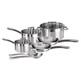 10-Piece Elegance Stainless Steel Cookware Set