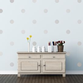 Dots Wall Decal in Silver