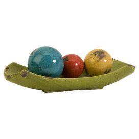 4-Piece Mercade Decorative Orb & Tray Set
