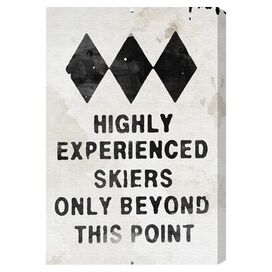 Experienced Skiers Canvas Print, Oliver Gal