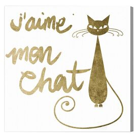 Mon Chat Canvas Print, Oliver Gal