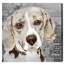 Love My Beagle Canvas Print, Oliver Gal