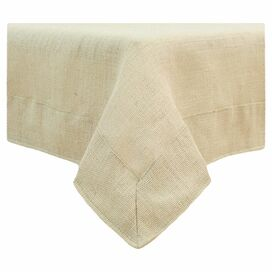 Burlap Tablecloth in Tan