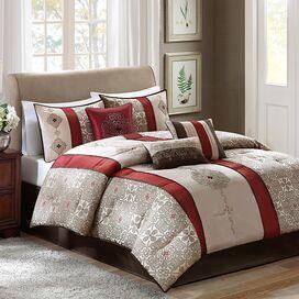 Donovan Comforter Set in Red
